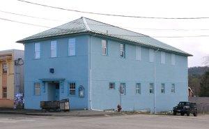 Cumberland Masonic Hall, 2687 Dunsmuir Avenue, Cumberland, B.C. (photo: Manoah Lodge No. 141 Webmaster)