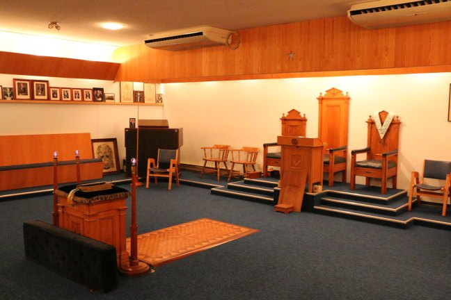 Lodge Room, Manoah Lodge No. 141 (photo by Manoah Lodge No. 141 webmaster)