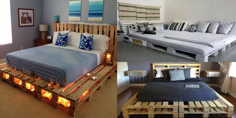15 Hermosos modelos de camas hechos con solamente pallets