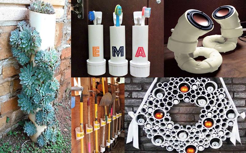 18 ideas para reutilizar los tubos de PVC sin contaminar