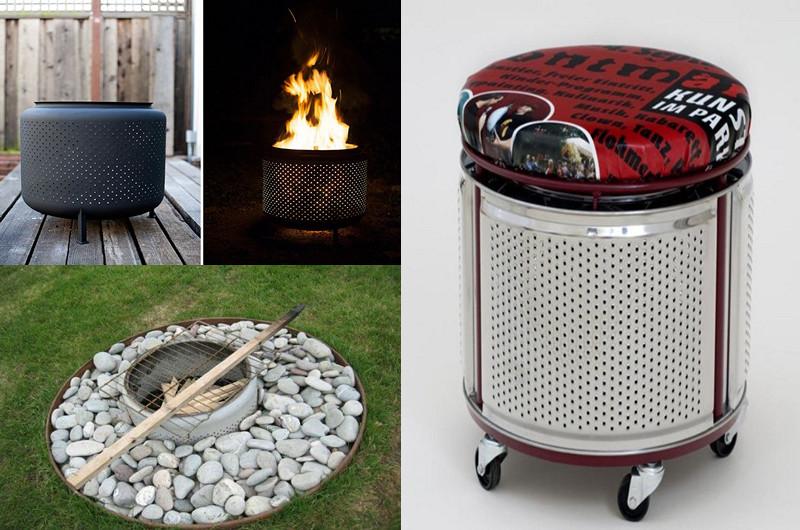 10 Ideas para reutilizar un tambor de lavadora reciclado