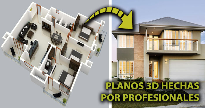 20 Planos 3D hechos por profesionales para construir la ...