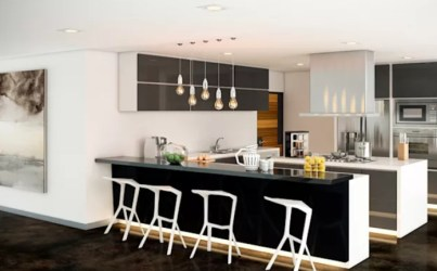 6 Tipos de cocinas con barras integradas que son la respuesta para el diseño de una nueva Manos a la Obra