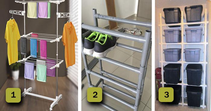 15 Muebles hechos con tubos PVC adaptados a cada una de