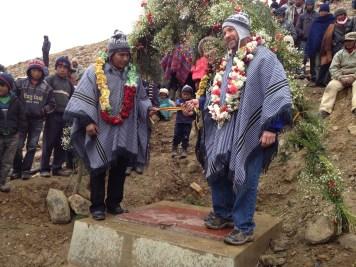 Dedication ceremony at Sancayani water reservoir