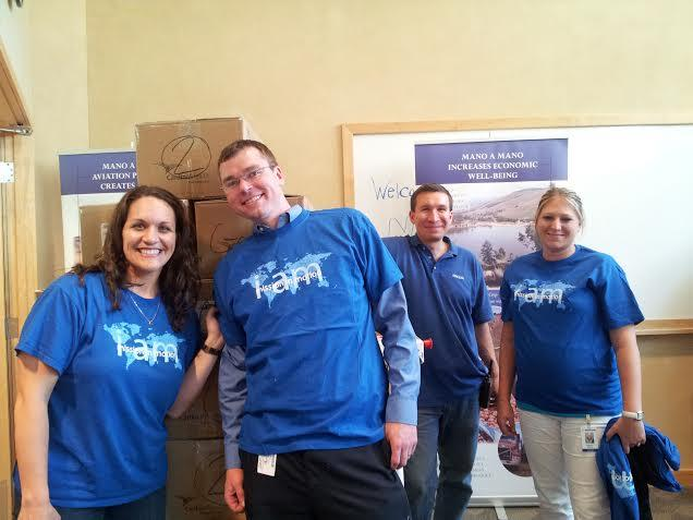 Medtronic volunteers on day 1 of Project 6.