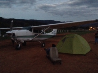 Camping Under the Mano a Mano Plane