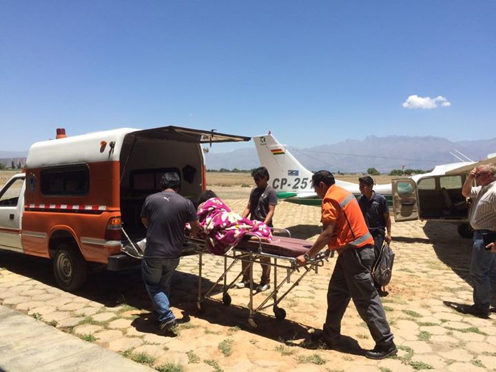 Emergency Flight for Mother and Child