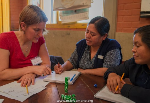 Minnesota and Bolivia teachers during a workshop, 2013.