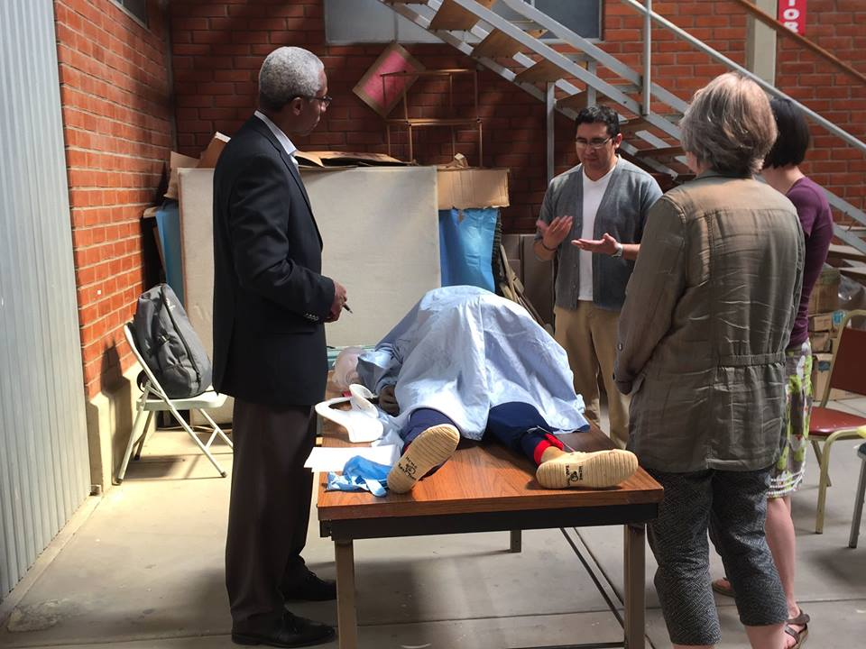 A trauma workshop hosted by volunteer medical professionals from the Twin Cities-based organization Medical Educators for Latin America (MELA). MELA travels to Bolivia once or twice a year to do workshops with Mano a Mano Bolivia.