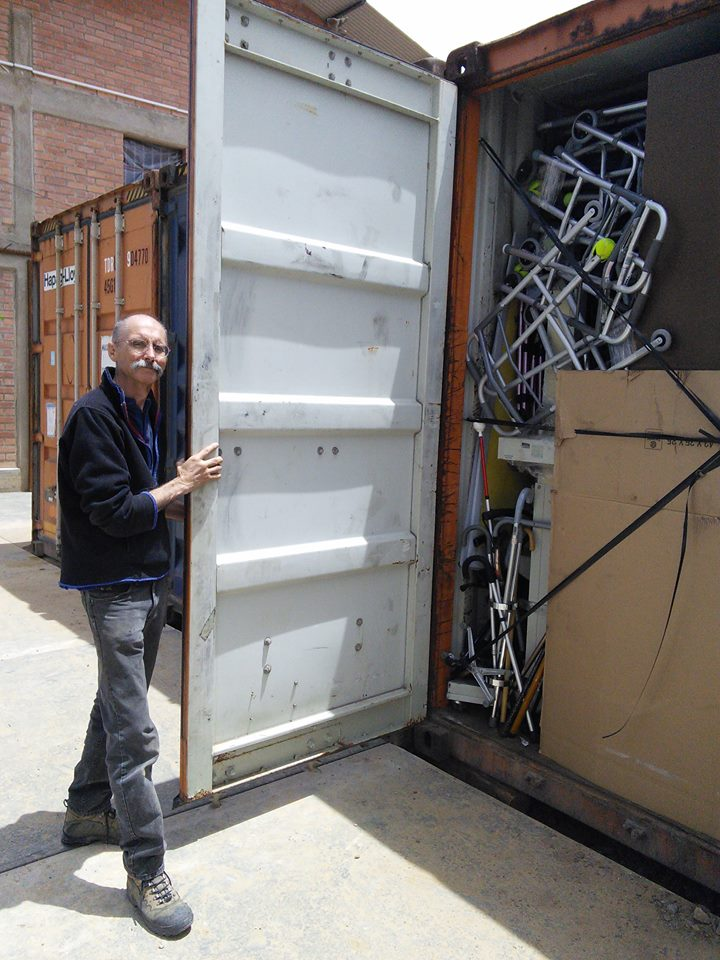 Mano a Mano Volunteer Ray on the Containers Arriving in Bolivia