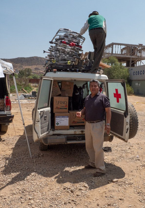 Distributing walkers and medical supplies in Cochabamba - September 2019