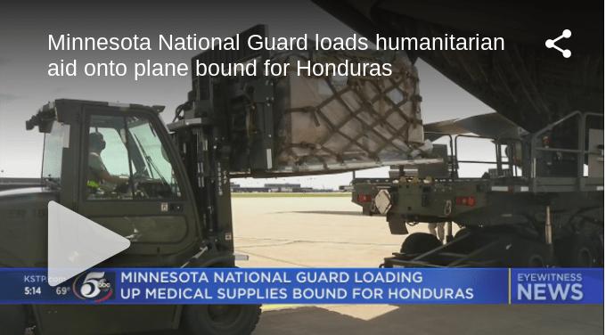 Minnesota National Guard Loads Supplies For Honduras
