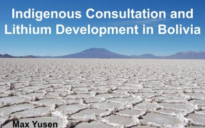 Mano a Mano Speaker Series on April 22nd: Indigenous Consultation and Lithium Development in Bolivia