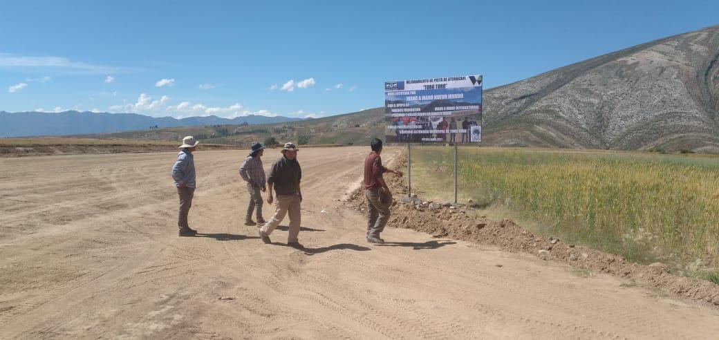 Marking the Completion of the Toro Toro Airstrip on May 21st, 2021