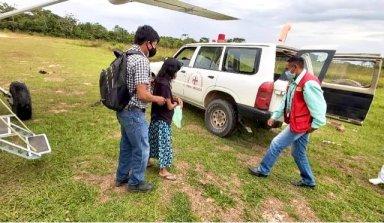 Embarazada llegando a San Ignacio