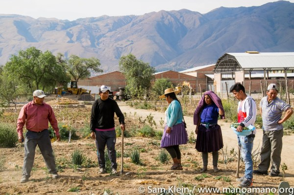 Farmers Visiting Mano Center Ecological