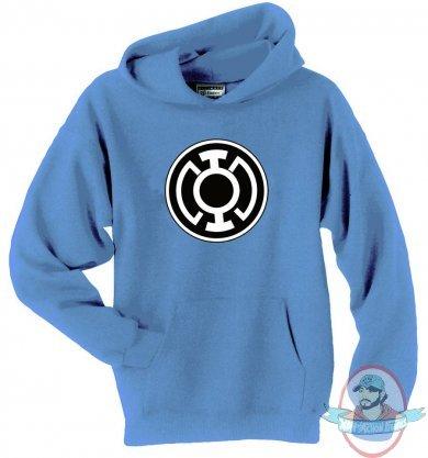 blue lantern symbol hoodie