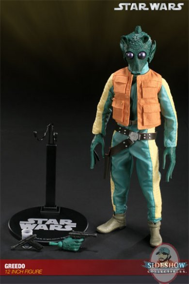 Star Wars Greedo 12 inch figure by Sideshow Collectibles Used JC  Man of Action Figures