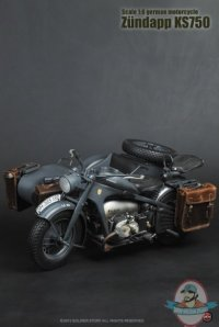 1/6 Scale WWII German Motorcycle Zundapp KS750 by Soldier ...