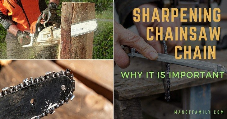 sharpening chainsaw chain