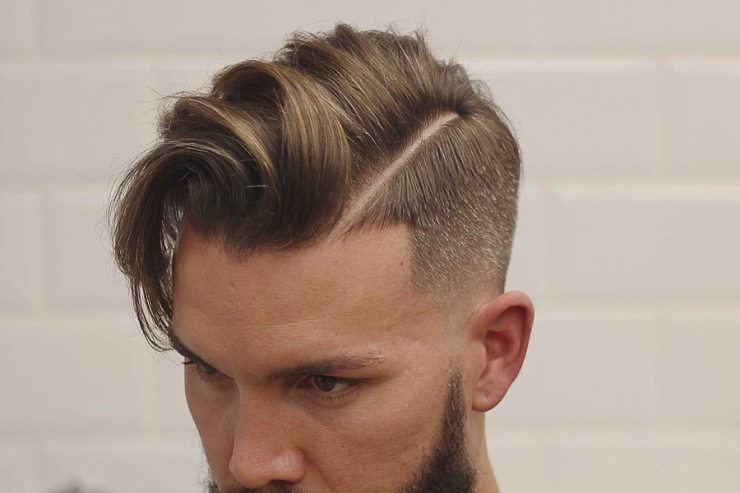Man with short haircut hairstyle