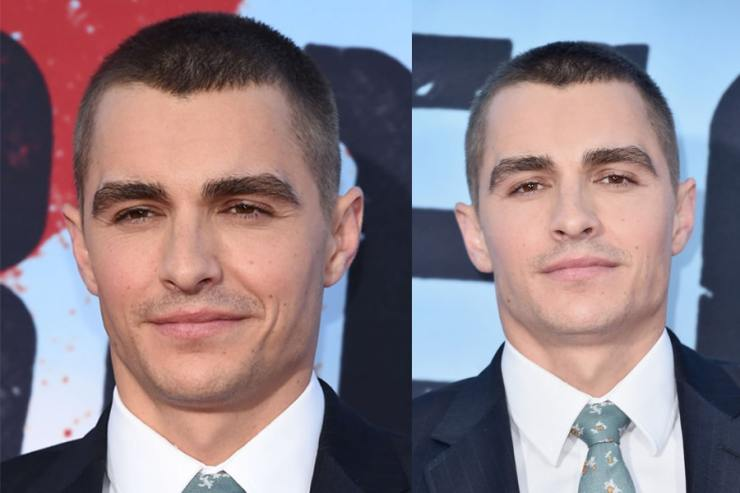 Dave Franco with short buzzcut haircut hairstyle