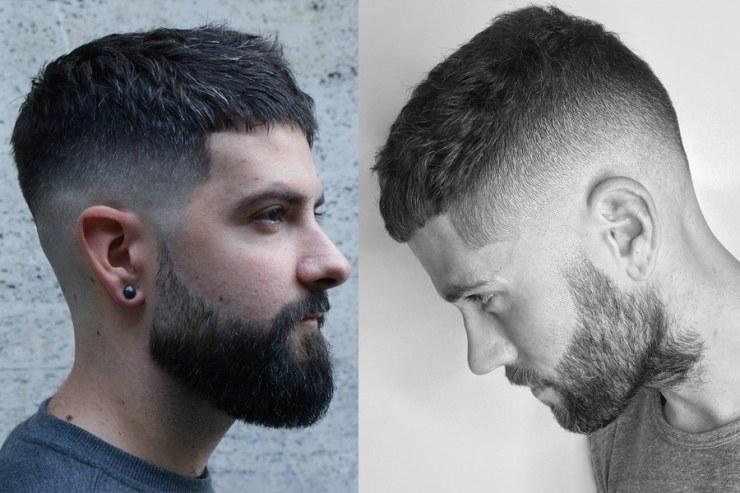 short haircut hairstyle for men side view