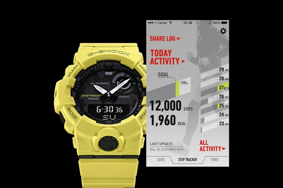 g-shock GBA800 connected app
