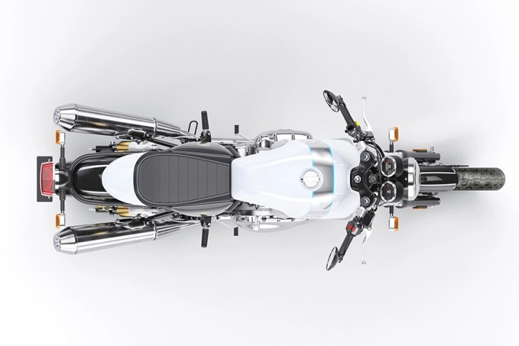 Continental GT 650 Ice Queen Sideview - Top View