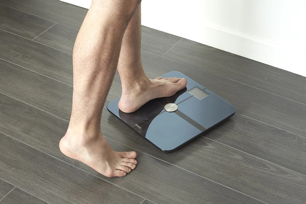 man on scales