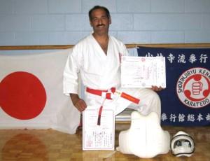 2007 Sensei Manoli receives his 5th Dan in Kenkokan & 6th Dan in Koshiki