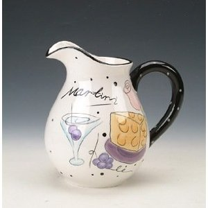 Ceramic martini pitcher