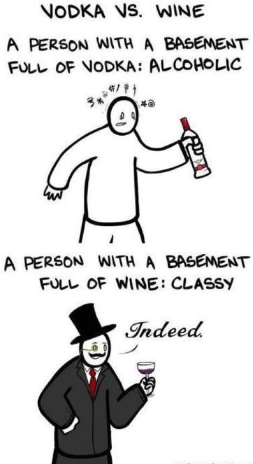 vodka vs wine