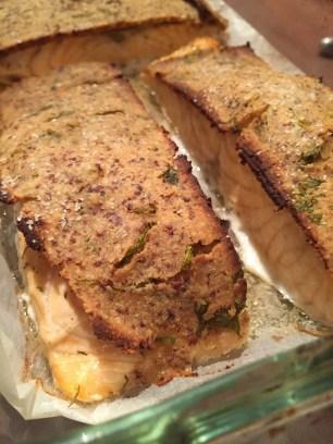 Manoncooks - pavé - saumon - croûte - moutarde