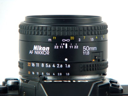The AF Nikkor 50mm f/1.8 is marvellous.