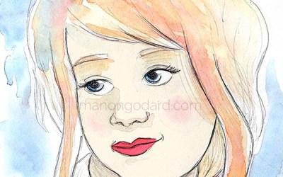 «Léna», illustration au crayon et à l'aquarelle (+ vidéo)
