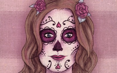 «Douce Calavera» – Illustration de Halloween (+vidéo making-of)