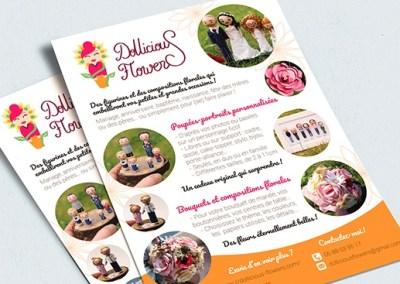 Flyer pour Dollicious Flowers, entrepreneuse créative