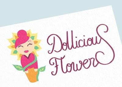 Logo de Dollicious Flowers, entrepreneuse créative