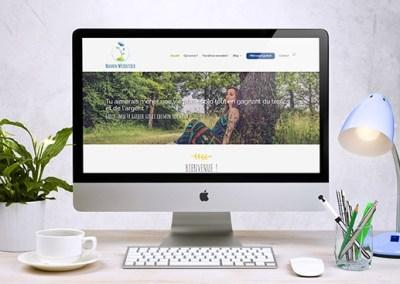 Identité visuelle et site de Manon Woodstock, coach en écologie