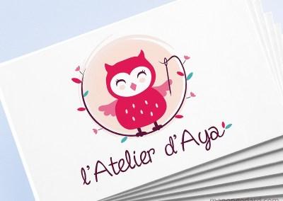 Logo de L'Atelier d'Aya, créations textiles écologiques