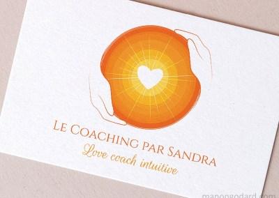 Logo de Le Coaching par Sandra, love coach