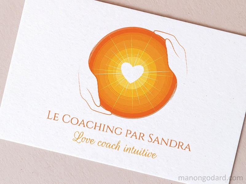 Logo de Le Coaching par Sandra, love coach, entrepreneuse - par Manon Godard