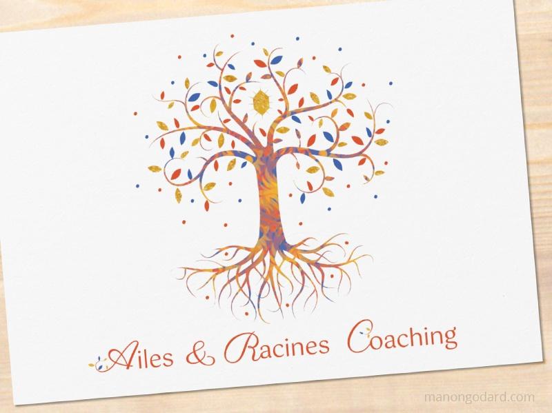 Logo de Ailes & Racines Coaching, coach personnelle