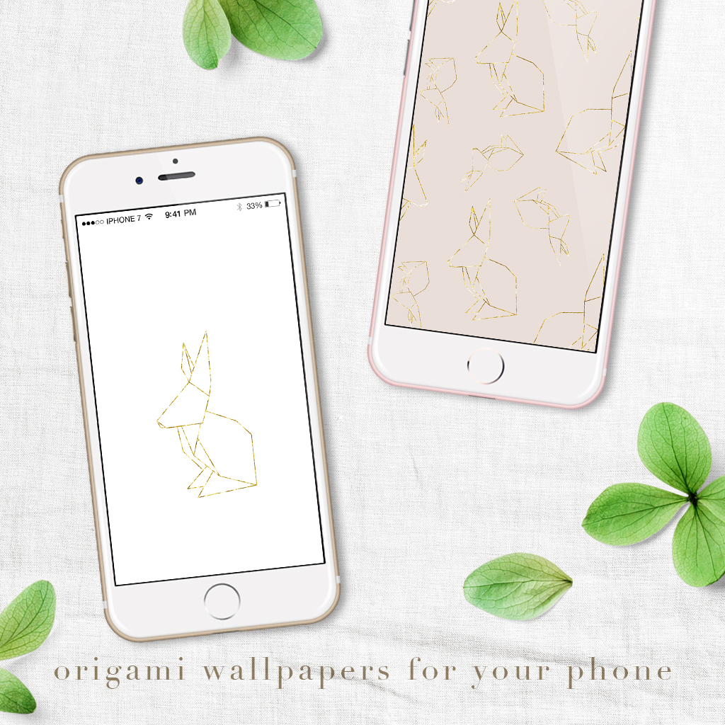 Free origami digital wallpapers for iPhone