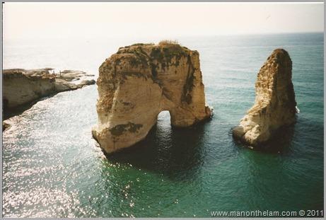 Pigeon Rocks Beirut Lebanon