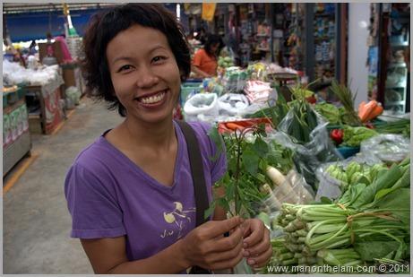 Lek at Food Market, Pai Thailand