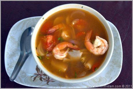 Tom Yum Soup, Thai Cooking Class, Pai Thailand