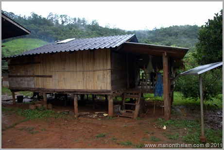 Hill Tribe House, Hill trek, Northern Thailand